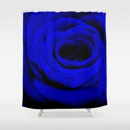 Expansion Blue rose flower Shower Curtain
