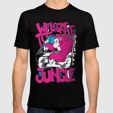 Welcome to the jungle Mens Fitted Tee LARGE Black