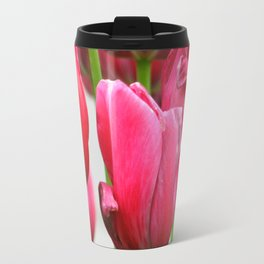 Pink Tulips Travel Mug