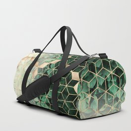 Leaves And Cubes Duffle Bag