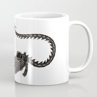 xenomorph Mugs featuring Xenomorph Warrior Babe by Aisha Diandra