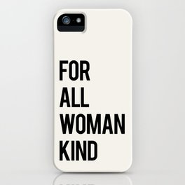 FOR ALL WOMANKIND iPhone Case