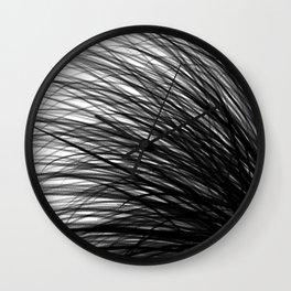 Graphite Waves Wall Clock
