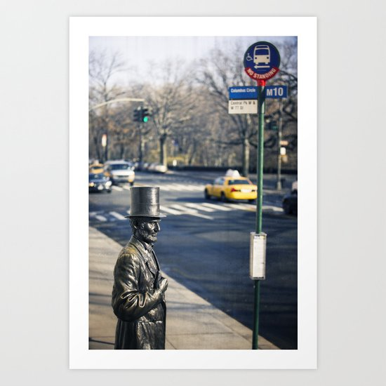 Abe's Bus Stop Art Print