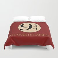 potter Duvet Covers featuring HARRY POTTER by Sophie