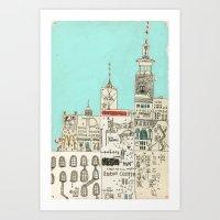 toronto Art Prints featuring Toronto by Nayoun Kim