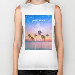 summer vibes only palm trees design Biker Tank