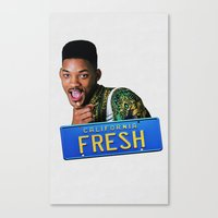 fresh prince Canvas Prints featuring Fresh Prince by MartiniWithATwist