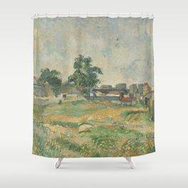 Paul Cézanne - Landscape near Paris Shower Curtain