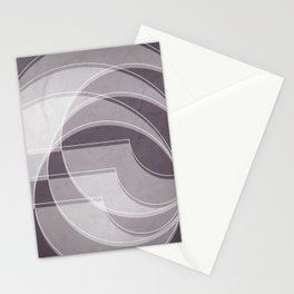 Spacial Orbiting Spiral in Aubergine Tones Stationery Cards