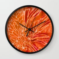 spice Wall Clocks featuring Spice Island by Vikki Salmela