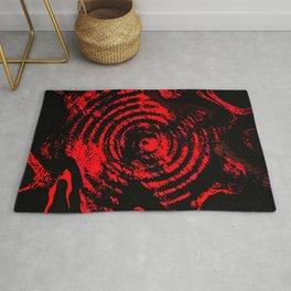 Black and red magik Rug