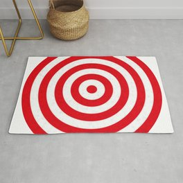 Red target on white background Rug