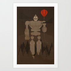 The Robot and The Balloon Art Print