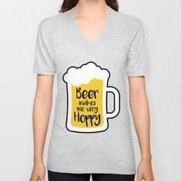 Beer Makes Me Hoppy Unisex V-Neck