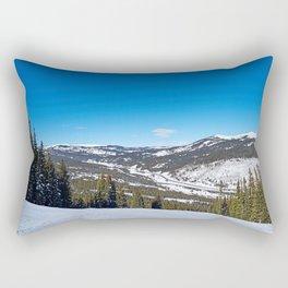 white to blue Rectangular Pillow