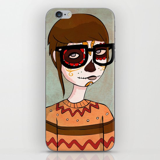 Day of the Dead Hipster iPhone & iPod Skin