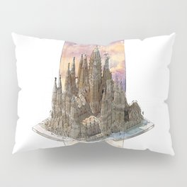 Barcelona Sagrada Familia - axonometric Pillow Sham