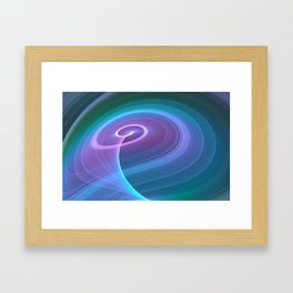 Spiral of Light in Blue Framed Art Print