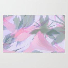 Flowering Vines in Soft Pink Rug