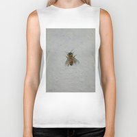 bee Biker Tanks featuring Bee by Michael Creese