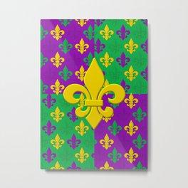 Mardi Gras Fleur-de-Lis Pattern Metal Print