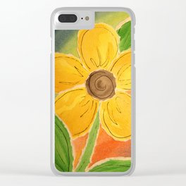 Paper Buttercup Clear iPhone Case