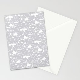 Mountain Scene in Grey Stationery Cards
