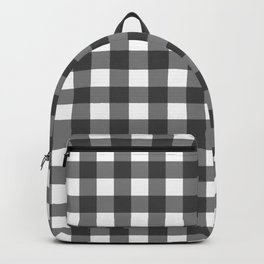 Black and White Vichy Print Backpack