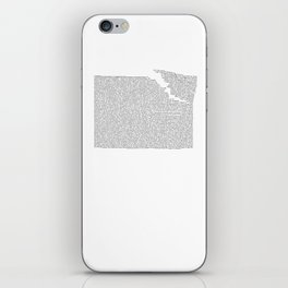 Erosion & Typography 2 iPhone Skin
