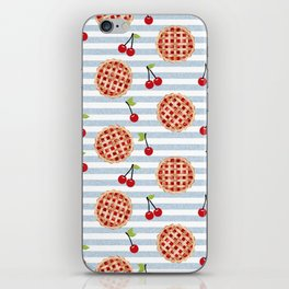 Pies with stripes trendy food fight apparel and gifts iPhone Skin