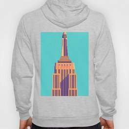 Empire State Building New York Art Deco - Cyan Hoody