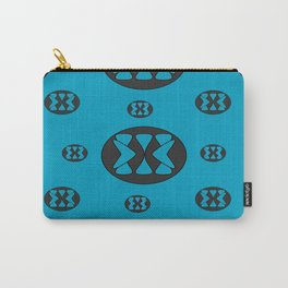 blue patterns Carry-All Pouch