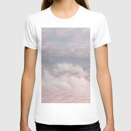 Cloud layers of Pink T-shirt