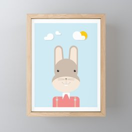 Bunny • Colorful Illustration Framed Mini Art Print
