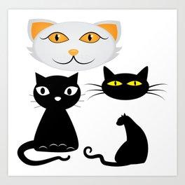 Funn Cats Art Print