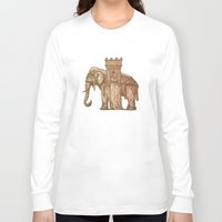 bastille Long Sleeve T-shirts featuring Elephant Bastille by Bluepress