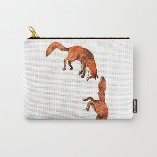 Jumping Red Fox Carry-All Pouch
