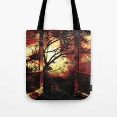 Enter the fertile garden of light and dispel the darkness of the night Tote Bag
