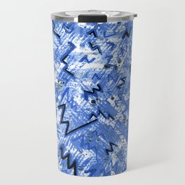 A Blue Texture Travel Mug