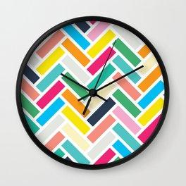 Herringbone (Joy Palette) Wall Clock