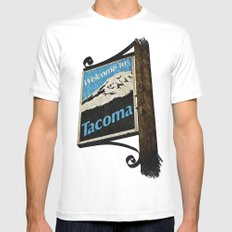 Welcome to Tacoma Mens Fitted Tee White MEDIUM