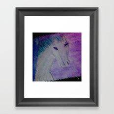 water color pony Framed Art Print