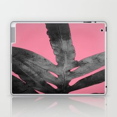 Green Fern on Pink - Black Shadow Laptop & iPad Skin
