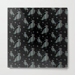 Deckchair Seagulls Metal Print