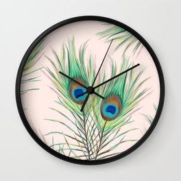 Unique Peacock Feathers Pattern Wall Clock
