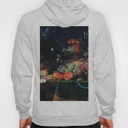 Abraham Mignon Fruits and oysters (1660-1679) Hoody