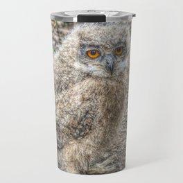Painted Baby Owl Travel Mug