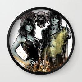 SANDMAN - MORPHEUS AND DEATH Wall Clock
