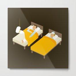 Sick In Bed Metal Print